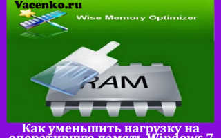 Оптимизация оперативной памяти Windows 7