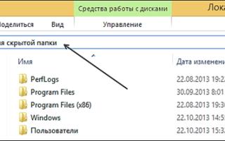 Как открыть скрытые файлы на Windows 8
