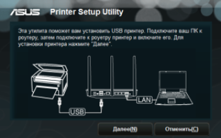 Как настроить принтер через wifi роутер