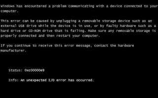 Ошибка 0xc00000e9 при установке Windows 7