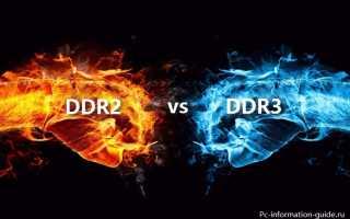 Что лучше ДДР2 или ДДР3