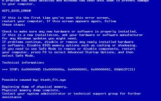 При установке Windows выскакивает синий экран