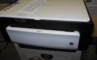 Как разобрать принтер ricoh sp 100su